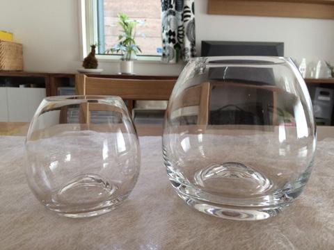 無印良品 無印良品週間 良品週間 購入 買った物 ガラスフラワーベース 凸型ボトム Sサイズ Mサイズ