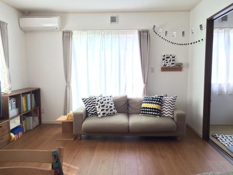 リビング 5月 無印良品 ワイドアームソファー 壁に付けられる家具・棚 スタッキングシェルフ