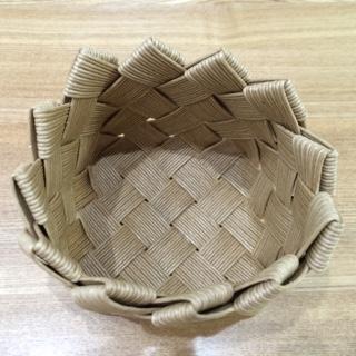 エコクラフトで作る北欧テイストのかご 手作り ハンドメイド 北欧雑貨 北欧 かご 籠 カゴ