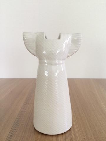 リサ・ラーソン Lisa Larson ワードローブ ドレス 陶器 花瓶 花器 白 ホワイト 一輪挿し フラワーベース オブジェ 飾り 北欧 インテリア