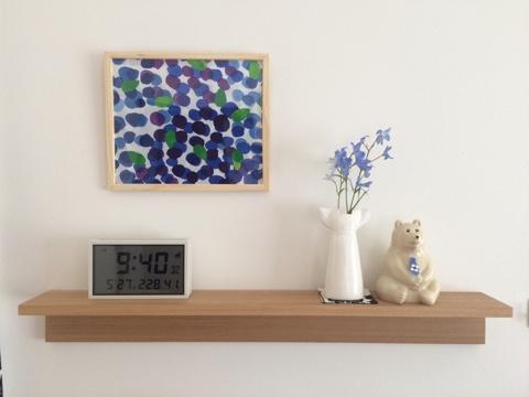 無印良品 ソーラー電波デジタルクロック 温湿度計 カレンダー機能付 置時計 壁掛可 無印 時計 シンプル デジタル時計 リビング 壁に付けられる家具 棚