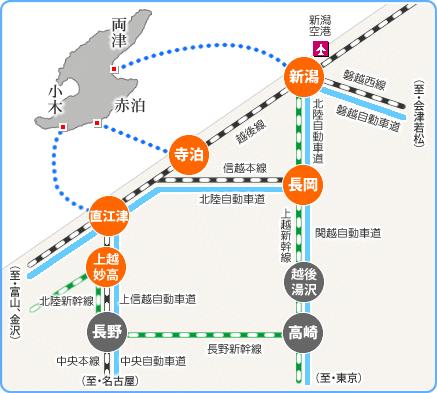 佐渡への道