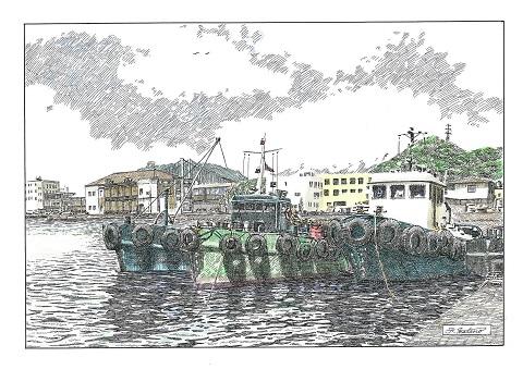 旧税関と船溜り