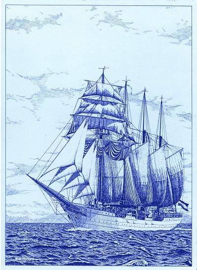 帆船 青焼き
