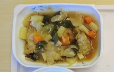 夕食の酢豚