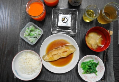 煮魚の晩ごはん