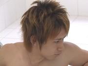 俳優級イケメンが風呂場でやたらカッコよくオナニー