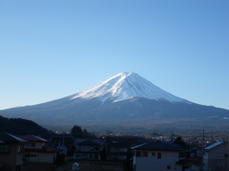 朝の富士山