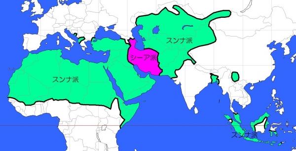 イスラム教の信仰地域