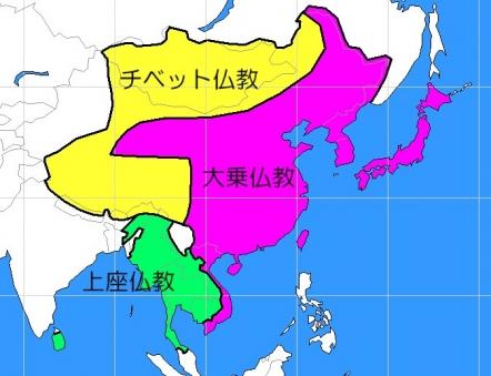 仏教の信仰地域