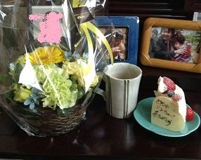 かわいいお花と、ケーキだよ^^