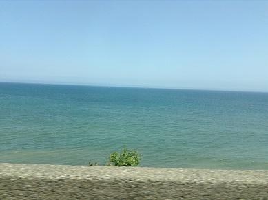 海、きれいだね・・・