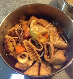 イカと煮ました