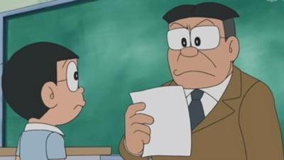 「野比、授業中に何をしてた?」「廊下に立ってました」「何、授業をサボって廊下に立つとは何事だ!廊下に立っとれ!」