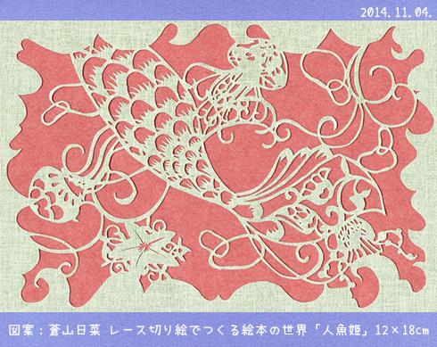 レース切り絵  【人魚姫】