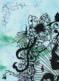 蒼山日菜さんのアールヌーヴォー作品:017を練習してみました