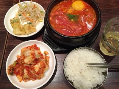 150607韓国料理bibim心斎橋OPA店チーズスンドゥプ1080円