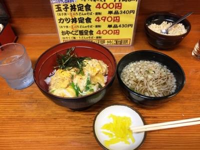 150608大阪駅前第2ビルつるつる庵玉子丼定食400円