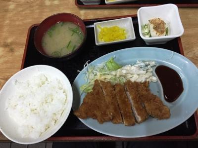 150611清水トンカツ定食490円