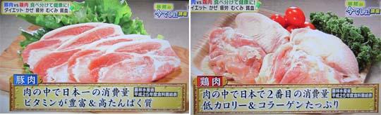 1 540 豚肉と鶏肉の比較