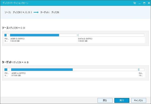 EaseUS Todo Backup Free 8.0の実行確認