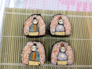 飾り巻き寿司お雛様