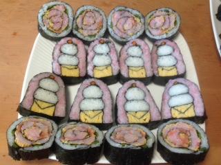 涌井さん1級バラと鏡餅