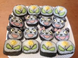 涌井さん1級パンダとタンポポ