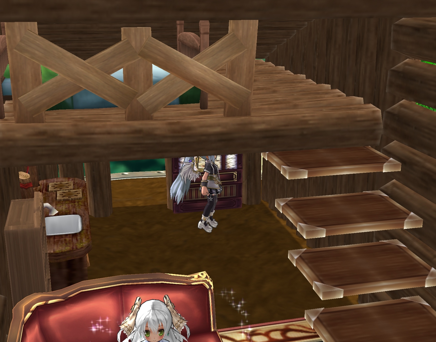 15_丸太の家、内側