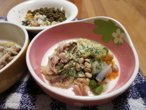 鯵のフィーレと根菜煮
