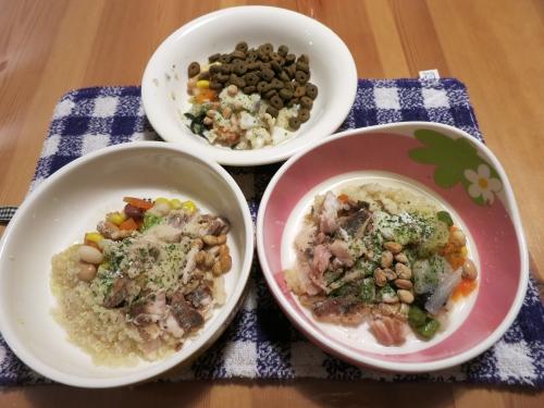 夜ご飯 鯵のフィーレと根菜煮