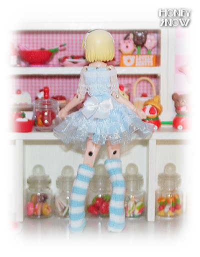 1/12DOLL 【うさぎさんワンピ】 服 武装神姫、figma、オビツ11、ピコニーモ