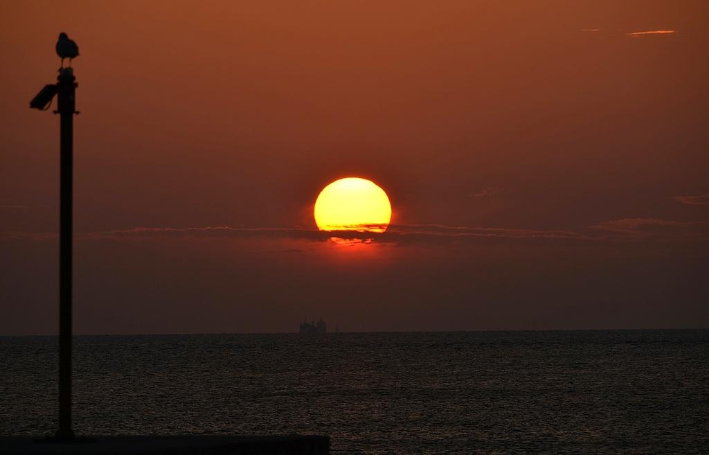 鹿島沖の夕景