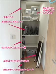 納戸の収納状況