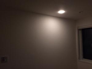 寝室調光可能ダウンライト