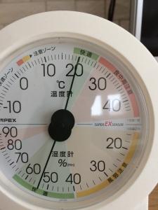 リビングの気温