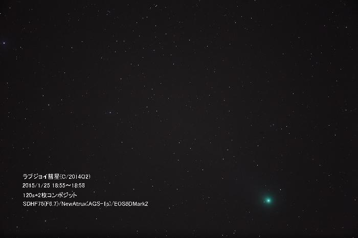 2015年1月25日のラブジョイ彗星