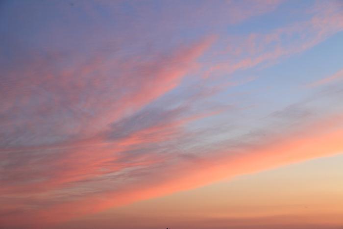 2015年5月16日の夕焼け雲