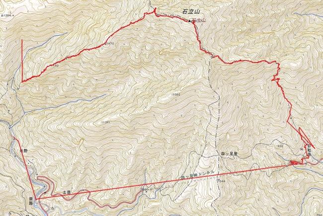 s-石立山トレース
