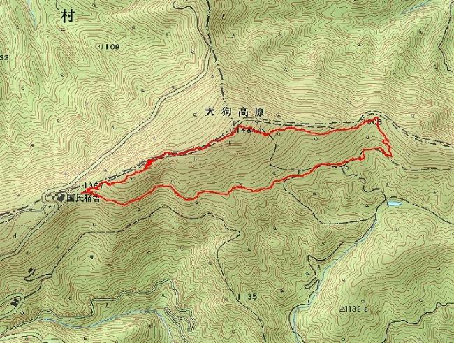 s-天狗の森トレース