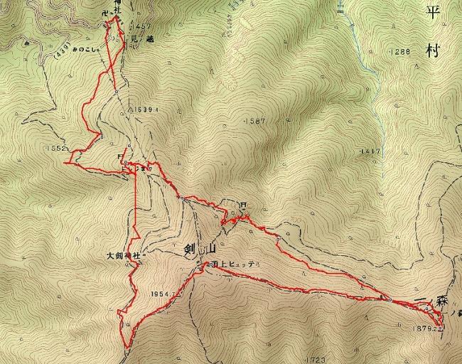 s-剣山トレース