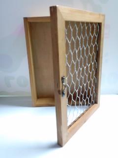 インテリアメッシュフレーム付き木製トレイ