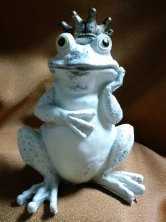 王様蛙 思案中?