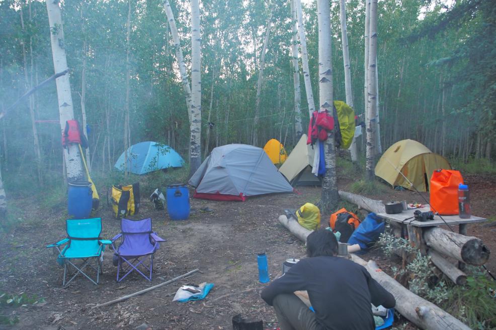 6人でキャンプ