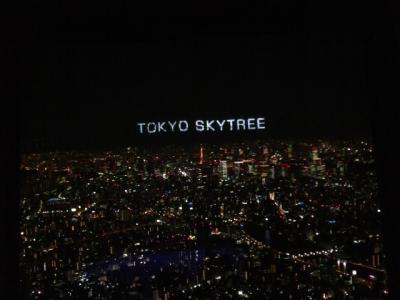 スカイツリーの夜景