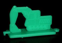 コリス フエラムネのおまけ ショベルカースタンプ(緑)