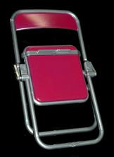 エール リアル折りたたみパイプ椅子 マゼンダ