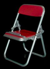エール リアル折りたたみパイプ椅子 レッド