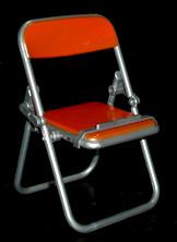 エール リアル折りたたみパイプ椅子 オレンジ