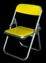 エール リアル折りたたみパイプ椅子 イエロー